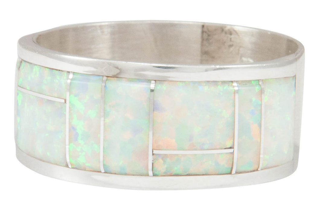 Zuni Native American Created Opal Ring Size 11 by Belvera Cachini SKU230919