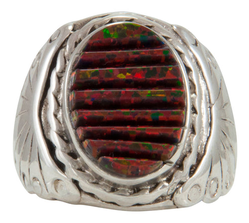 Navajo Native American Lab Created Opal Ring Size 8 1/4 by Dawes SKU230922