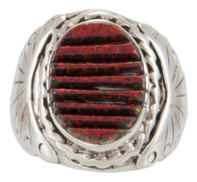 Load image into Gallery viewer, Navajo Native American Lab Created Opal Ring Size 8 1/4 by Dawes SKU230923