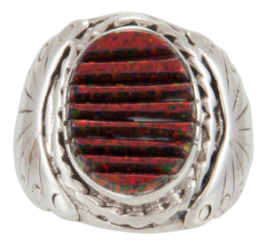 Navajo Native American Lab Created Opal Ring Size 8 1/4 by Dawes SKU230923