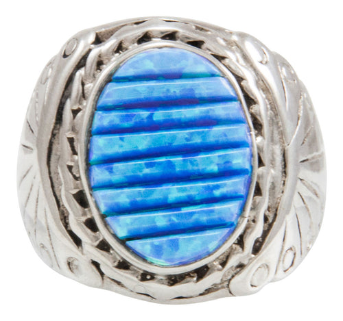 Navajo Native American Lab Created Opal Ring Size 8 by Dawes SKU230925
