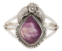 Load image into Gallery viewer, Navajo Native American Purple Shell Bracelet by Alice Johnson SKU230936