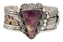 Load image into Gallery viewer, Navajo Native American Purple Shell Bracelet by Roger Johnson SKU230937