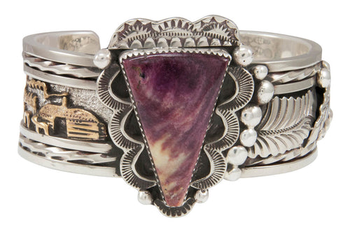 Navajo Native American Purple Shell Bracelet by Roger Johnson SKU230937