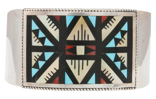 Zuni Native American Turquoise and Shell Inlay Bracelet by Othole SKU230949