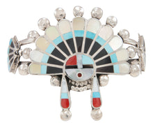 Load image into Gallery viewer, Zuni Native American Turquoise Sunface Bracelet by Delbert Celicio SKU230953