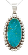 Load image into Gallery viewer, Navajo Native American Kingman Turquoise Pendant Necklace by Skeets SKU230960