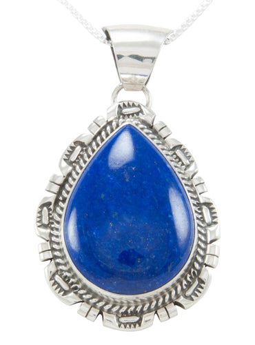 Navajo Native American Lapis Pendant Necklace by Augustine Largo SKU230965