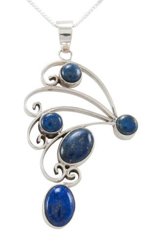 Navajo Native American Lapis Pendant Necklace by Scott Skeets SKU230966
