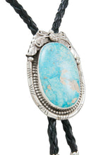 Load image into Gallery viewer, Navajo Native American Kingman Turquoise Bolo Tie by Betta Lee SKU230982