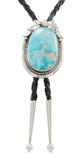 Navajo Native American Kingman Turquoise Bolo Tie by Betta Lee SKU230982