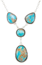Load image into Gallery viewer, Navajo Native American Kingman Turquoise Necklace by Elouise Kee SKU230991