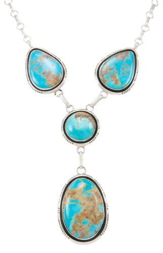 Navajo Native American Kingman Turquoise Necklace by Elouise Kee SKU230991