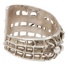 Load image into Gallery viewer, Navajo Native American Tufa Cast Spider Web Bracelet by Merle House SKU230996