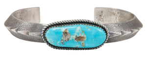 Navajo Native American Kingman Turquoise Bracelet by Dineyazhe SKU231002