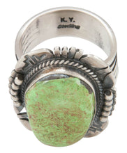 Load image into Gallery viewer, Navajo Native American Gaspeite Ring Size 10 by Kathy Yazzie SKU231042