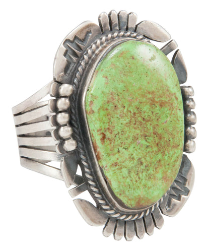 Navajo Native American Gaspeite Ring Size 10 by Kathy Yazzie SKU231042