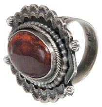 Load image into Gallery viewer, Navajo Native American Spiny Oyster Shell Ring Size 8 1/2 by Yazzie SKU231046