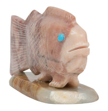 Load image into Gallery viewer, Zuni Native American Jasper Fish Fetish by Sullivan Shebola SKU231096
