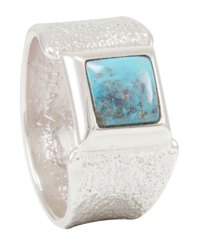 Navajo Native American Bisbee Turquoise Ring Size 9 by Monty Claw SKU231109