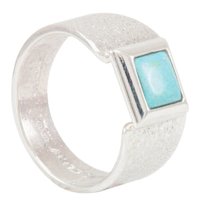 Navajo Native American Bisbee Turquoise Ring Size 11 by Monty Claw SKU231110