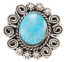 Load image into Gallery viewer, Navajo Native American Turquoise Mountain Ring Size 8 by Johnson SKU231112