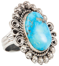 Load image into Gallery viewer, Navajo Native American Kingman Turquoise Ring Size 10 by Johnson SKU231114