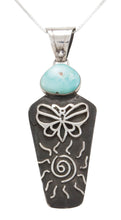 Load image into Gallery viewer, Navajo Native American Carico Lake Turquoise Pendant by Billie SKU231129