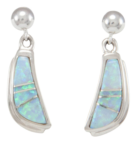 Navajo Native American Created Opal Inlay Earrings by B Joe SKU231142