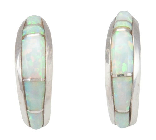 Navajo Native American Created Opal Inlay Earrings by Bernadine Joe SKU231151