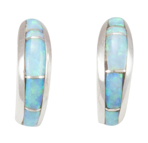 Navajo Native American Created Opal Inlay Earrings by Bernadine Joe SKU231152