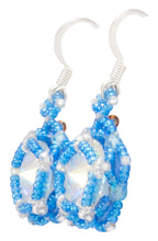 Load image into Gallery viewer, Navajo Native American Crystal and Seed Bead Earrings by Charlotte Begay SKU231179