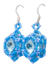 Load image into Gallery viewer, Navajo Native American Crystal and Seed Bead Earrings by Charlotte Begay SKU231180