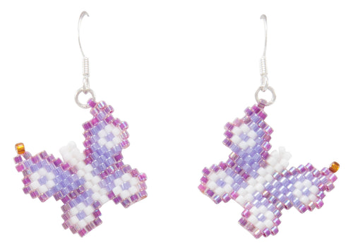 Navajo Native American Butterfly Seed Bead Earrings by Charlotte Begay SKU231183