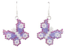 Load image into Gallery viewer, Navajo Native American Butterfly Seed Bead Earrings by Charlotte Begay SKU231184