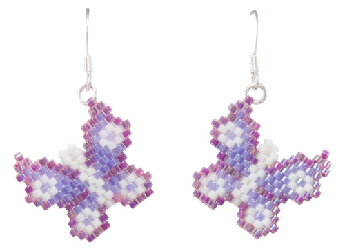 Navajo Native American Butterfly Seed Bead Earrings by Charlotte Begay SKU231184