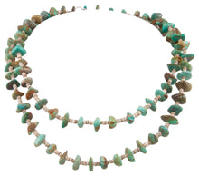 Load image into Gallery viewer, Santo Domingo Kewa Pueblo Royston Turquoise and Pen Shell Heishi Nugget Necklace by Betty Rodriquez SKU231207