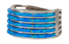 Load image into Gallery viewer, Zuni Native American Lab Created Opal Ring Size 9 1/2