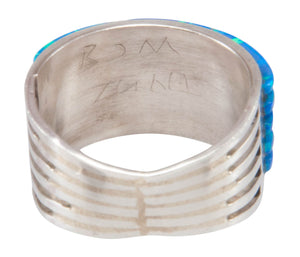 Zuni Native American Lab Created Opal Ring Size 7 3/4 SKU231226