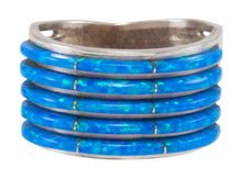 Load image into Gallery viewer, Zuni Native American Lab Created Opal Ring Size 7 3/4 SKU231226