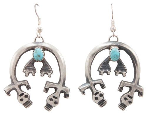 Navajo Native American Turquoise Earrings by Mike Chee SKU231317