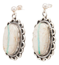 Load image into Gallery viewer, Navajo Native American Royston Ribbon Turquoise Earrings by Bahe SKU231331