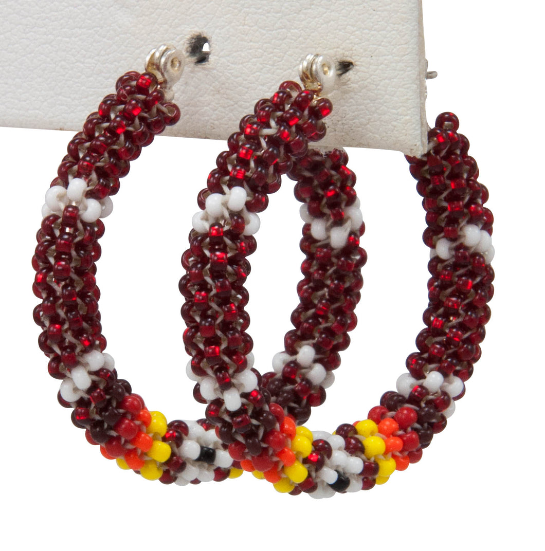 Navajo Native American Seed Bead Earring by JT Willie SKU231342