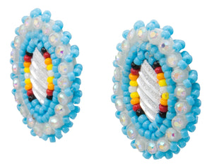 Navajo Native American Seed Bead Earring by JT Willie SKU231345