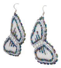 Load image into Gallery viewer, Navajo Native American Butterfly Seed Bead Earrings by JT Willie SKU231349