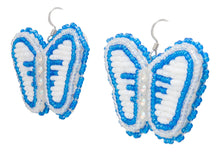 Load image into Gallery viewer, Navajo Native American Butterfly Seed Bead Earrings by JT Willie SKU231351