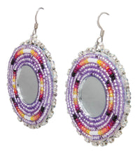 Load image into Gallery viewer, Navajo Native American Seed Bead and Mirror Earrings by JT Willie SKU231354