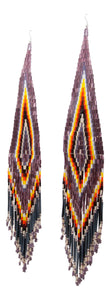 Navajo Native American Seed Bead Earrings by Julie Charley SKU231359