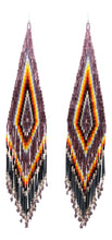 Load image into Gallery viewer, Navajo Native American Seed Bead Earrings by Julie Charley SKU231359