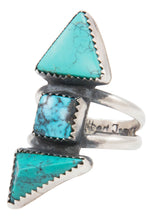 Load image into Gallery viewer, Navajo Native American Turquoise Ring Size 8 by Gilbert Tom SKU231386